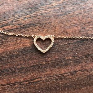 Jewelry - NWOT STERLING ROSE GOLD HEART, 18""